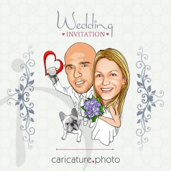 Boxing wedding caricature