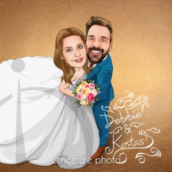 Caricature Invite | Lace Wedding Invitation Caricature | Lace Wedding Caricature | Caricature Photo | Wedding Online Caricatures | Wedding Invite Online Caricatures