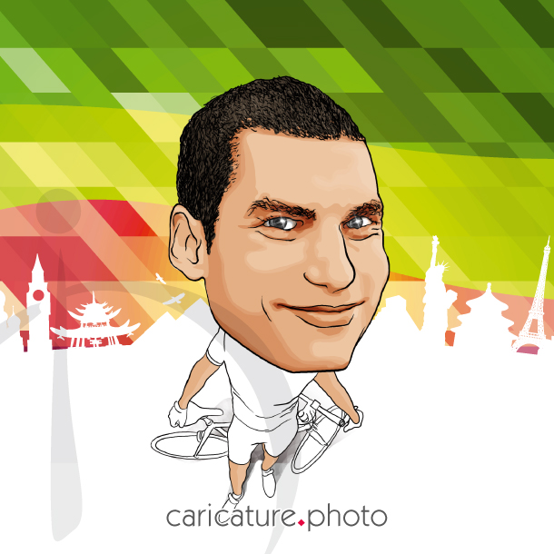 Sports Caricatures, Hobbies Caricatures from Photos | Bike Me | Caricature Your Photo | Online Caricatures | Personalized Caricature