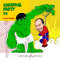 Superheroes Caricature | Carnival party Caricature | Super Caricature Your Photo | Online Caricatures | Caricature online