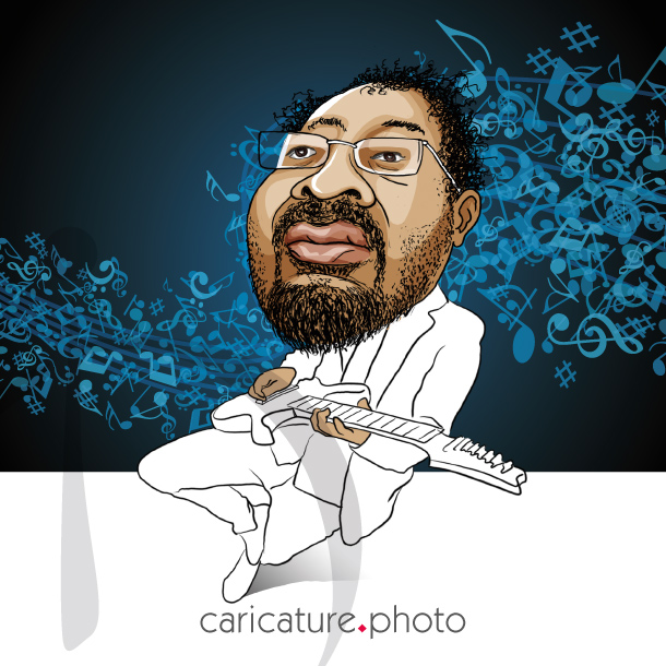 Corporate Caricatures, Business Gift Caricatures | Electric Guitar Player | Caricature Your Photo | Online Caricatures | Personalized Caricature