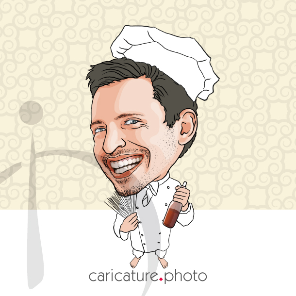 Corporate Caricatures, Business Gift Caricatures | Funny Cook Man | Caricature Your Photo | Online Caricatures | Personalized Caricature
