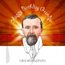 Family Caricature, Happy Birthday Grandpa | Grandpa Caricature | Wishes Caricature | Birthday Caricature