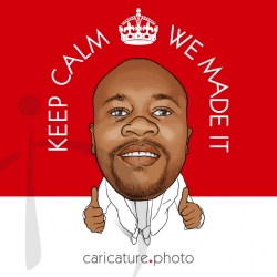 Wedding Gift Caricatures and Wedding Guest Book Ideas | Keep Calm Cause We Made It | Caricature Your Photo | Online Caricatures | Personalized Caricature