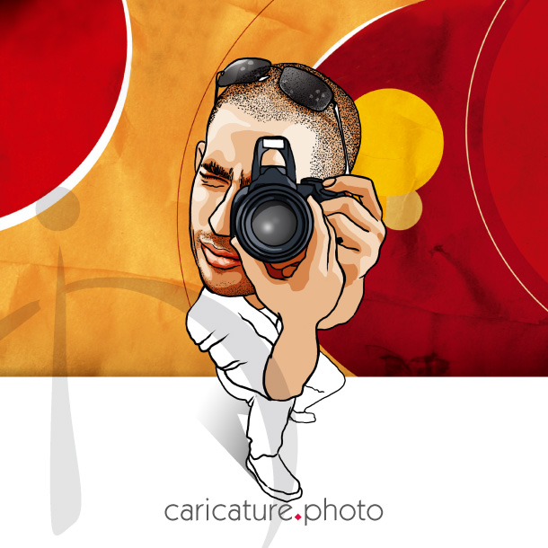 Corporate Caricatures, Business Gift Caricatures | Photographer on Action | Caricature Your Photo | Online Caricatures | Personalized Caricature
