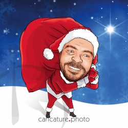 Santa Claus Invitation Caricature, Celebrations and Caricature Gifts | Santa Claus Caricature Your Photo | Online Caricatures | Personalized Caricature