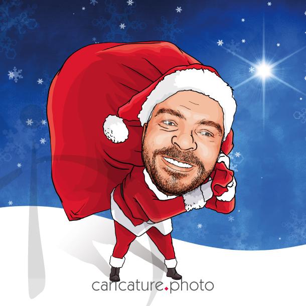 Santa Claus Invitation Caricature, Celebrations and Caricature Gifts | Santa Claus Caricature Your Photo | Online Caricatures | Personalized Caricature