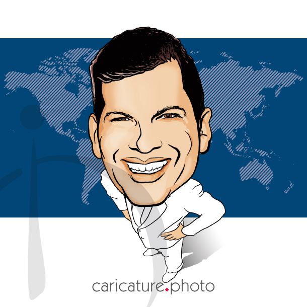 Corporate Caricatures, Business Gift Caricatures | Worldwide Businessman | Caricature Your Photo | Online Caricatures | Personalized Caricature