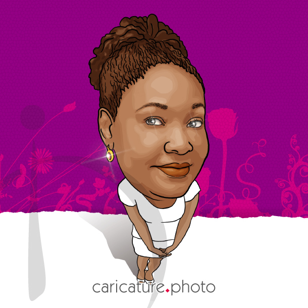 Family Caricatures, Friends Caricatures | Aunt Jemima | Caricature Your Photo | Online Caricatures | Personalized Caricature