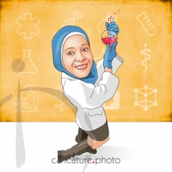 Doctor Caricatures From A Photo | Medical Laboratory Scientist | Caricature Photo | Online Caricatures | Personalized Doctor Caricature