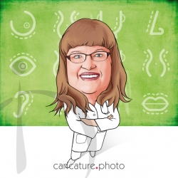 Doctor Caricatures From A Photo | Dr. Nip/Tuck | Caricature Photo | Online Caricatures | Personalized Doctor Caricature