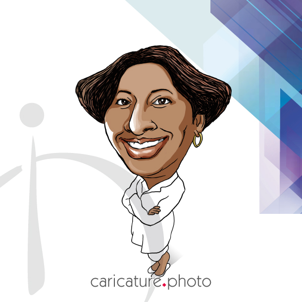 Corporate Caricatures, Business Gift Caricatures | Successful Business Woman | Caricature Your Photo | Online Caricatures | Personalized Caricature