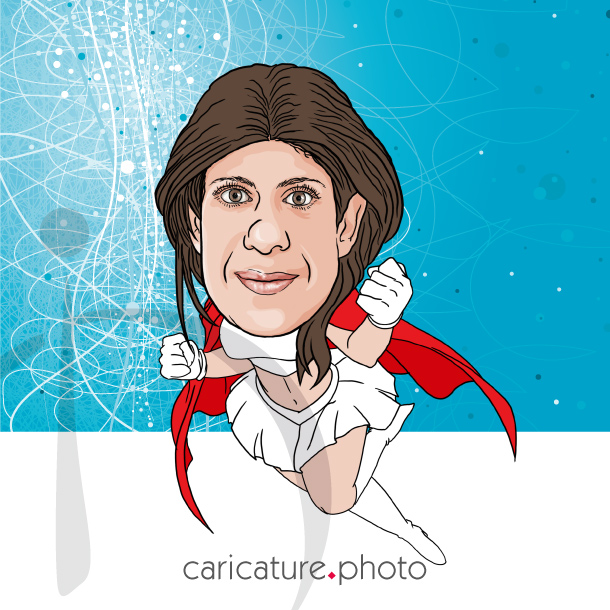 Super Hero Caricature, Super Gift Caricatures | Super Mama Caricatures | Super Caricature Your Photo