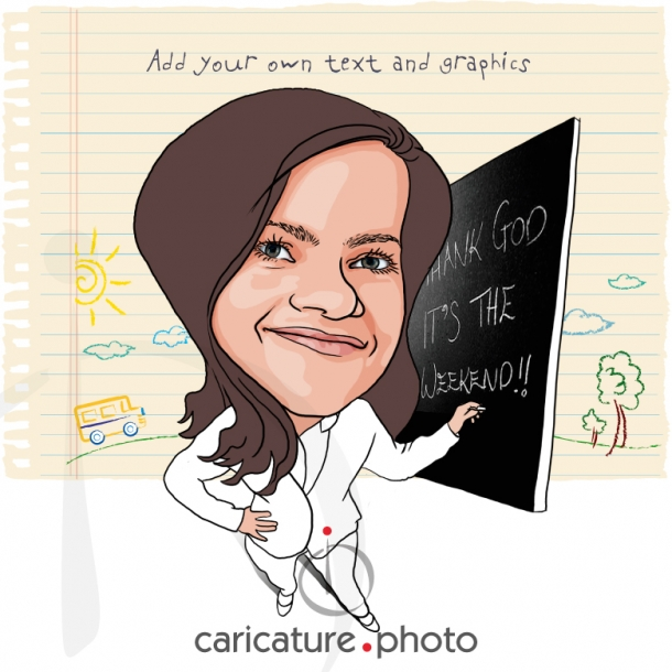 Corporate Caricatures, Business Gift Caricatures | Thank God it's Weekend | Caricature Your Photo | Online Caricatures | Personalized Caricature
